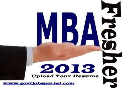 Resume Format for Freshers MBA HR Free Download